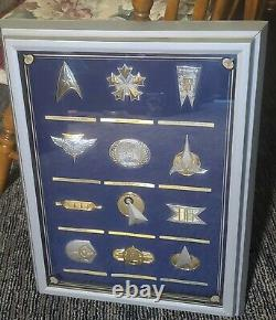 Sterling Silver & Gold STAR TREK INSIGNIA COLLECTION Franklin Mint 1992 withCASE