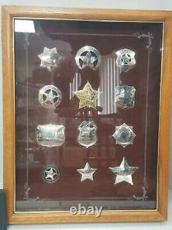 Sterling Silver Official Badges Of Great Western Lawmen (franklin Mint) Ref#3232