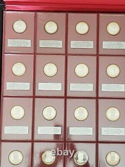 Sterling Silver Proof Presidential Coin Medals with case Franklin Mint- 35 Coins