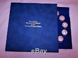 Sterling Silver Proof Set Franklin Mint 13 Original US States