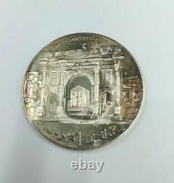 Sterling silver 1969 Republique Tunisienne 10 coin republic the franklin mint