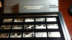 Sterling silver franklin mint Official Air & Space Ingot Collection