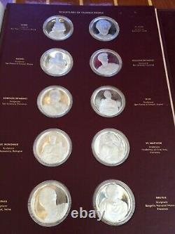 SterlingSilver Medals/Coins The Genius Of Michelangelo Franklin Mint CompleteSet