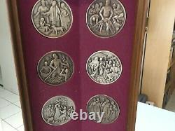 THE CALLING OF THE APOSTLES 50 oz SOLID STERLING SILVER FRANKLIN MINT MEDAL SET