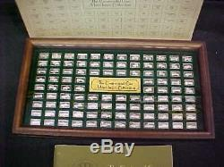 THE CENTENNIAL 100 CAR MINI STERLING SILVER INGOT COLLECTION 1875-1975 w CASE