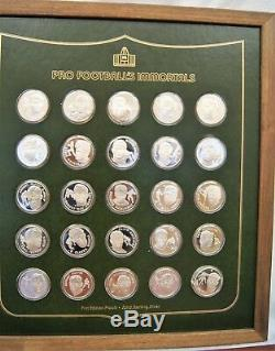 THE FRANKLIN MINT Pro Football's Immortals Set OF 50 Sterling Silver Proof Coins