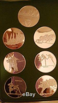 THE FRANKLIN MINT XX OLYMPICS MUNICH 1972 STERLING SILVER PROOF SET Case/ COA