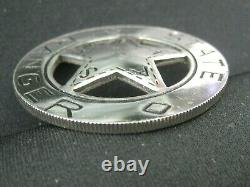 Texas State Ranger Badge STERLING SILVER Cut-Out Star FRANKLIN MINT Peso