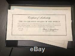 The 100 Greatest Stamps of the World Sterling Silver Miniature Collection