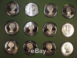 The First Ladies of the White House Solid Sterling Silver Collection 40 Medals