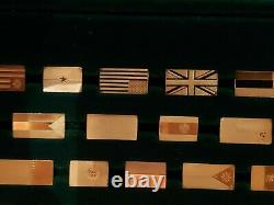The Flags Of All Nations Sterling Silver Ingots Franklin Mint Complete set 167