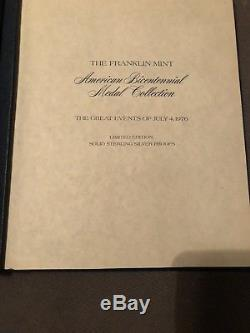 The Franklin Mint American Bicentennial Medal Collection 12 PC STERLING SILVER