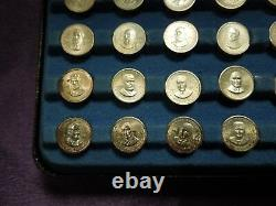 The Franklin Mint First Edition Sterling Silver Presidential Mini Coin Set