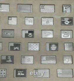 The Franklin Mint Flags of the Revolution Series Sterling Silver Proof Set /Case