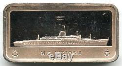 The Franklin Mint Great Ocean Liner Ships Sterling Silver Ingot Collection 50 pc