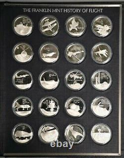 The Franklin Mint History of Flight Solid Sterling Silver Coin Set, 125 oz