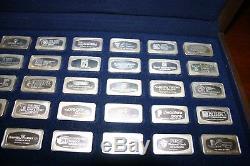 The Franklin Mint Proof Set of 50 BankMarked Sterling Silver Ingots 1974 Genuine