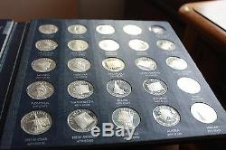 The Franklin Mint States of the Union Series-Book of solid sterling silver medal
