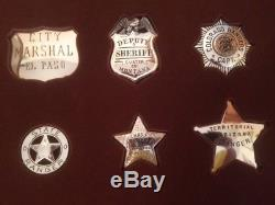 The Franklin Mint Sterling Silver Official Badges Of The Great Western Lawman