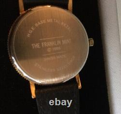 The Franklin Mint Vintage 1986 Gold Eagle Swiss Made Watch & Buffle Nautic Band