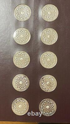 The Genius Of Michelangelo Franklin Mint 60 Sterling Silver Coin Medallions