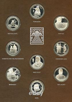 The Great American Indian Chiefs Sterling Silver Medal Collection Franklin Mint