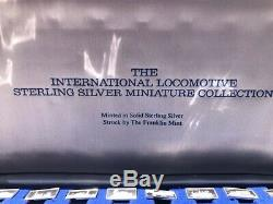 The International Locomotive Sterling Silver Miniature Collection- Franklin Mint