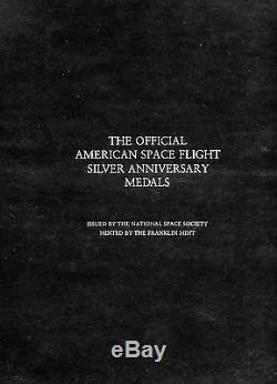 The Official American Space Flight Sterling Silver Anniversary Medals No COAs