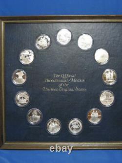 The Official Bicentennial Sterling Medals of the Thirteen Original States Set