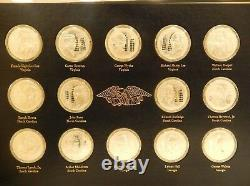 The Official Signers Medals 1st Edition 56 Sterling Silver Coins Franklin Mint