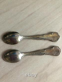 The Official State Flowers Silver Sterling Spoon Miniatures By The Franklin Mint