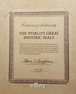 The Worlds Great Historic Seals 49 Sterling Silver Medal Set by Franklin Mint