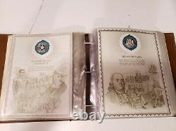 The Worlds Great Historic Seals 50 Sterling Silver Set by Franklin Mint Complete
