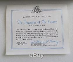 Treasures Of The Louvre- Rare Franklin Mint Sterling Silver Mini-coin Collection