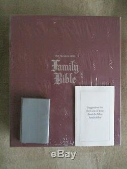 UNOPENED MIB The Franklin Mint Family Bible Sterling Silver King James Version