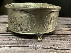 Vintage 1976 The American Freedom Box Franklin Mint Sterling Silver Trinket Box