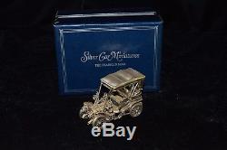 Vintage 1977 Solid Sterling Silver Franklin Mint 1903 Fiat Car D2-430