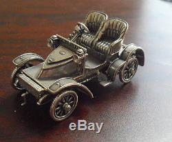 Vintage 1977 Sterling Silver Franklin Mint 1905 Vauxhill Miniature Car
