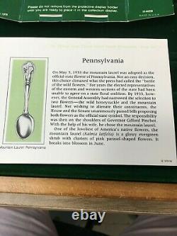 Vintage Franklin Mint 48 State Flowers Sterling Silver Spoon Set- Spoons Sealed
