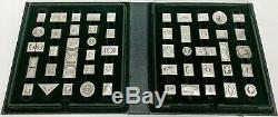 Vintage Franklin Mint Collectors Box of 50 Stamps in Sterling Silver 600 Grams