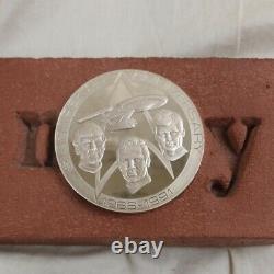 Vintage Star Trek 25th Anniversary. 925 Sterling Silver Calendar Medal Medallion