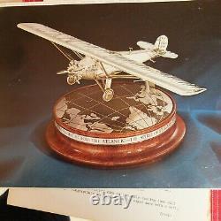 Vintage Sterling Silver Spirit of Saint Louis Lindbergh Airplane Franklin Mint