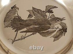 Vintage The Wood Thrush Sterling Silver Plate The Franklin Mint 233 179 Grams