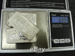 Vtg Lot 5 Franklin Mint Solid Sterling Silver. 925 Ingots Christmas 1973-1978