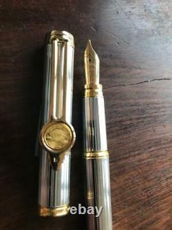 Waterman Franklin Mint Signature Sterling Silver Fountain Pen 18k Gold Nib