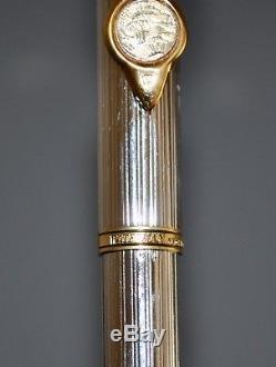 Waterman Gentlemen Sterling Silver Fountain Pen Gold $20 Coin Franklin Mint