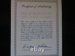 Worlds Most Valuable Stamps by Franklin Mint COMPLETE SET 925 Sterling